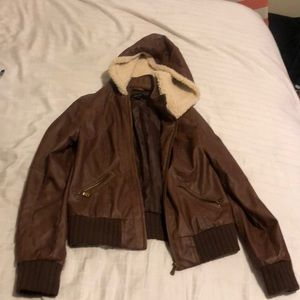 "Brown ""new look "" faux jacket size med"